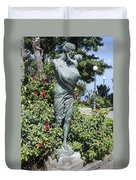 Mother Child Statue Duvet Cover
