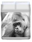 Mother Gorilla In Thought Duvet Cover