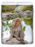 Mother Monkey Duvet Cover