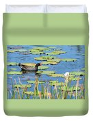Mother Moorhen Duvet Cover