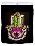 Mother Nature Hamsa Duvet Cover