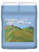 Mother Nature With Poppies Duvet Cover