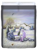 Mother Of Air Goddess Danu - Winter Solstice Duvet Cover