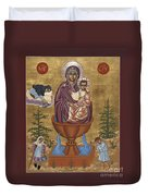Mother Of God Life Giving Spring With Mother Macaria Of Russia And Blessed Margaret Of Castello 179 Duvet Cover