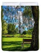 Mother Of Sorrows Pioneer Shrine Duvet Cover