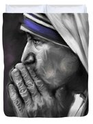 Mother Teresa Of Calcutta Duvet Cover