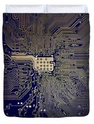Motherboard Architecture Blue Duvet Cover