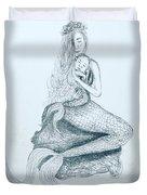 Motherhood Mermaid Duvet Cover by Monique Faella