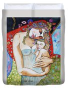 Motherhood - Tribute To Klimt Duvet Cover