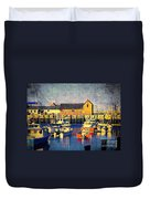 Motif No. 1 - Sunset Digital Art Oil Print Duvet Cover