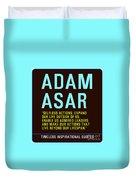 Motivational Quotes - Adam Asar Duvet Cover