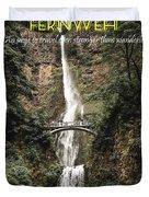 Motivational Travel Poster - Fernweh Duvet Cover