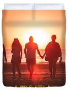 Motivational Travel Poster - Hireath Duvet Cover