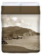 Notleys Landing Big Sur Coast Circa 1933 Duvet Cover