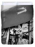 Moto Ducati Motorcycle -2115bw Duvet Cover