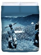 Motor Scooters In Greece Duvet Cover