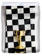 Motor Sport Racing Tie And Trophy Duvet Cover