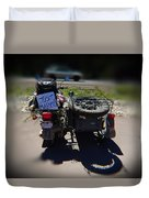 Motorcycle Love Story Duvet Cover