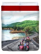 Motorcycle Ride Duvet Cover