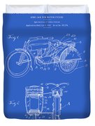 Motorcycle Sidecar Patent 1912 - Blueprint Duvet Cover