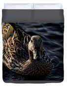 Mottled Duck In Big Spring Park Duvet Cover