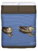 Mottled Ducks, South Padre Island, Texas Duvet Cover