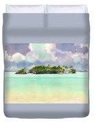 Motu Rapota, Aitutaki, Cook Islands, South Pacific Duvet Cover by Judith Kunzle