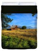 Moulton Barn Jackson Hole Duvet Cover