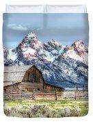 Moulton Barn Mormon Row Grand Tetons Wyoming Duvet Cover by Gigi Ebert
