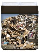 Mound Of Recyclables Duvet Cover