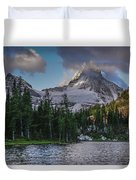 Mount Assiniboine In Clouds Duvet Cover