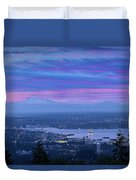 Mount Baker And Vancouver Bc At Dawn Duvet Cover