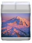 Mount Baker At Sunset Duvet Cover