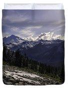 Mount Baker From The Lake Ann Trail 2 Duvet Cover