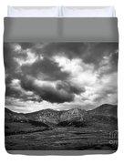 Mount Bierstadt Black And White Duvet Cover