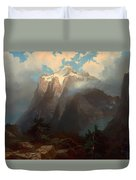 Mount Brewer From King's River Canyon - California Duvet Cover