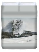 Mount Carmel Eruption Duvet Cover