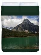 Mount Chephren From Waterfowl Lake - Banff National Park Duvet Cover