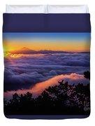 Mount Constitution Sunrise Duvet Cover