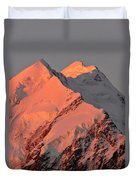 Mount Cook Range On South Island In New Zealand Duvet Cover
