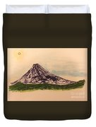 Mount Fuji And Power Of Mystery Duvet Cover