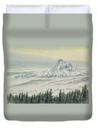 Mount Hood Evening Duvet Cover
