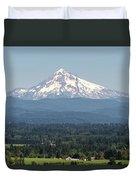 Mount Hood In The Summer Duvet Cover