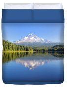 Mount Hood On A Sunny Day Duvet Cover