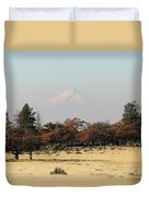 Mount Hood Over The Flats Duvet Cover
