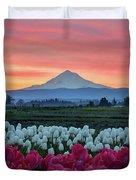 Mount Hood Sunrise Duvet Cover