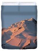 Mount Hood Sunset Glow Duvet Cover