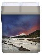 Mount Hood Winter Wonderland Duvet Cover
