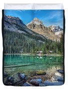 Mount Huber At Lake O'hara Duvet Cover
