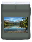 Mount Lassen From Manzanita Lake Duvet Cover